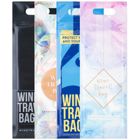 Wine Travel Bag - All Designs (Pack of 4) - Reusable Wine Travel Bag
