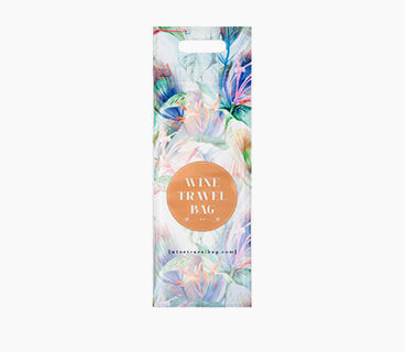 Floral Wine Travel Bags